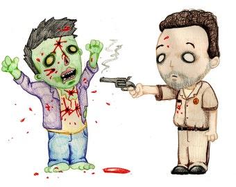 Zombie Kids Variant Fine Art Print