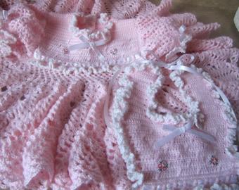 Little Pink Dress with Pink Bib