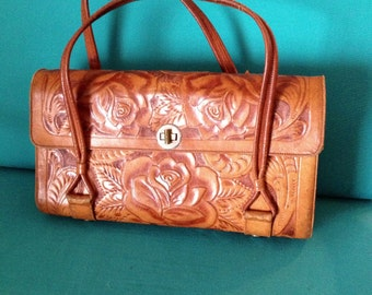 Hand made leather purse.