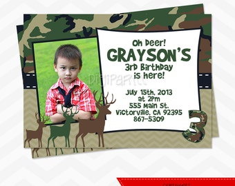 Deer Birthday Invitation