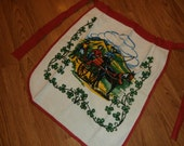 Terry Cloth Apron from Ireland approx. 1964