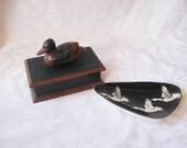 Mallard duck keepsake box, geese catch all tray, gifts for him, cabin decor, hunter decor, Fathers day gifts