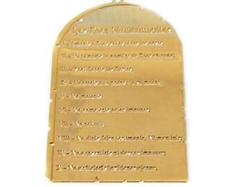 Ten Commandments Charm, Gold Filled, 53x35; 1 piece