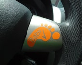 Baby Footprints Check Decal Safe Baby on Board Hot Car Decal Reminder DIY Office Home Truck Mom Dad Baby Shower Grandma Grandpa Babysitter