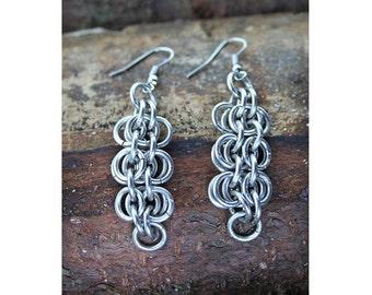 Metallic Color Chainmail Earrings