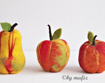 Apple Pear great fruit decoration fruit felt