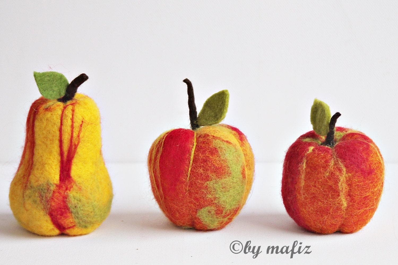 Apple pear great fruit decoration fruit felt for Apple fruit decoration