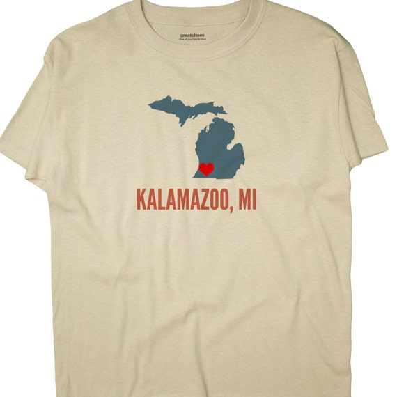Greatcitees unisex kalamazoo michigan mi heart hometown for T shirt printing kalamazoo