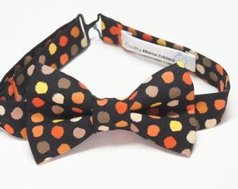 Bow Tie - Black with Polka Dots Bowtie
