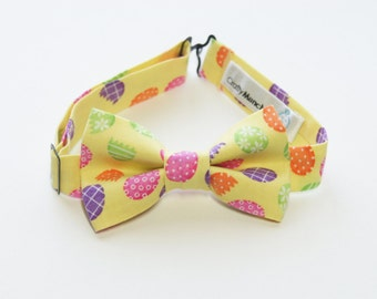 Bow Tie - Yellow with Eggs Bowtie