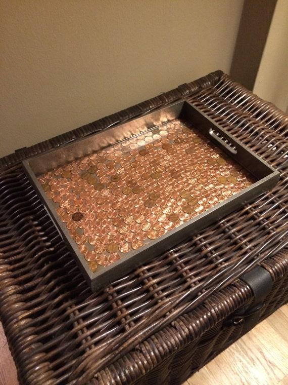 Penny tray serving ottoman tea