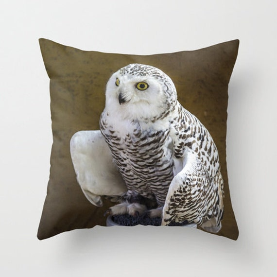 Owl Throw Pillow Covers : Owl Pillow Throw Bird Photo Pillow cover Cushion covers Pillow