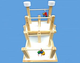 bird play gym 2 level2 treat cupssmall birdsbird play