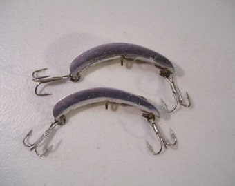 Lot of 2 Antique Russelure Fishing Lures No. 2, 1950's