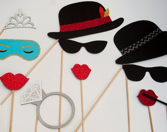 Breakfast at Tiffany's Photo Booth Props 11 Pieces