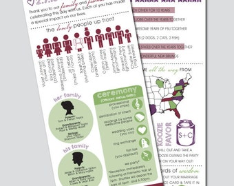 Printable Wedding Program Infographic