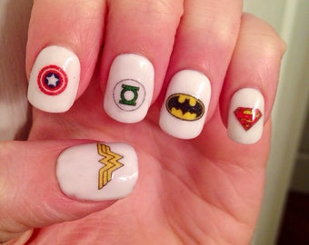 Super Hero Nail Decals
