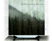 Fabric Shower Curtain  - Bathroom Decor, Nature Photography, bathroom, home decor, mountains, nature, rain, PNW, dreams