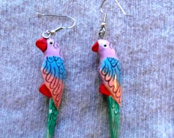 Vintage Parrot Dangle Earrings