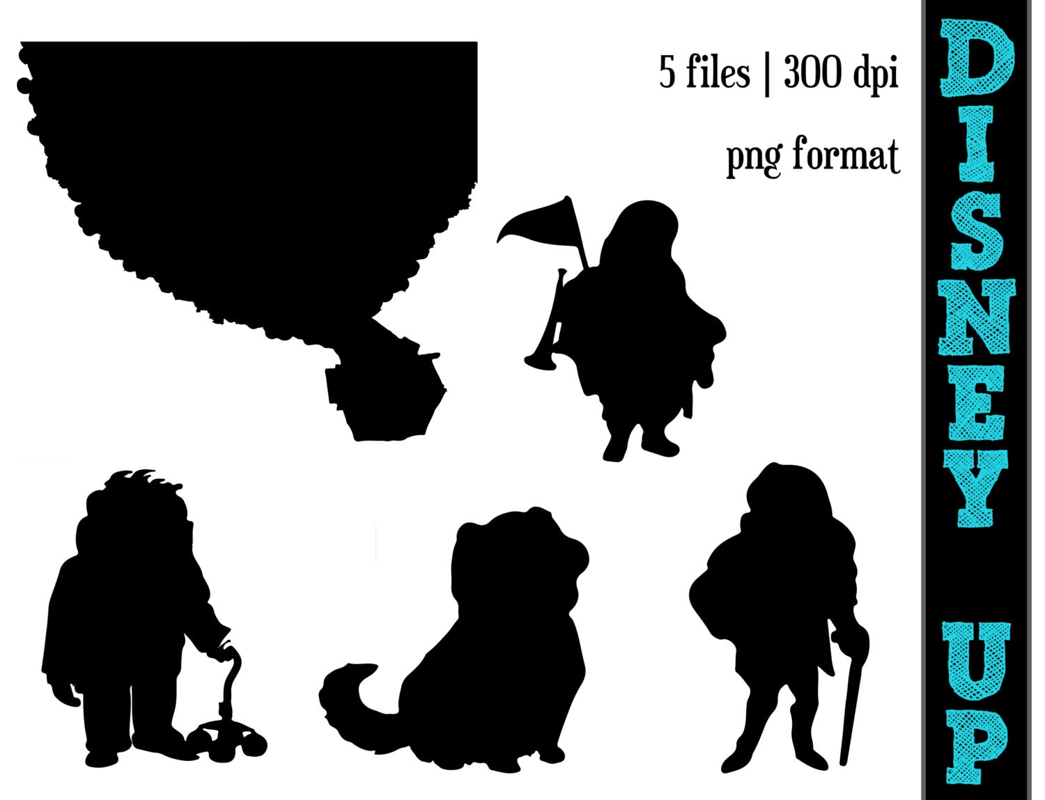 Disney S Up Silhouettes Carl Charles Russel Dug