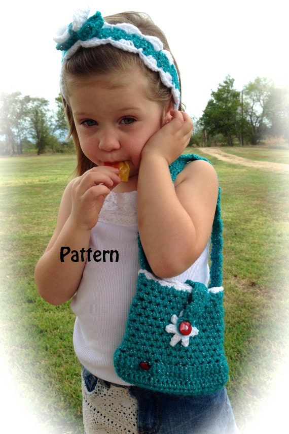 Crochet Little Girls Purse Instant Download PDF by YarntoHook