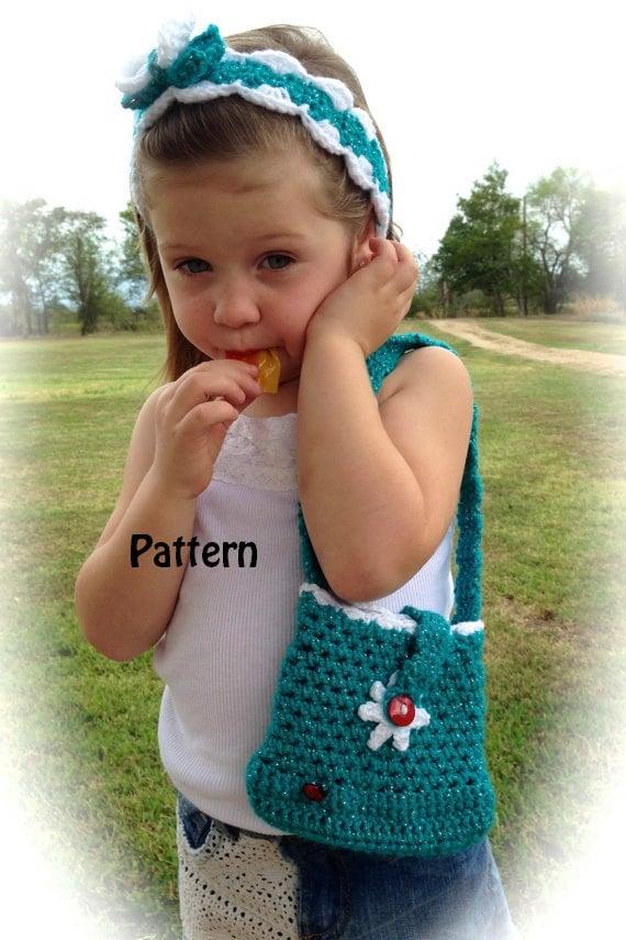 Crochet Purse For Little Girl : Crochet Little Girls Purse Instant Download PDF by YarntoHook