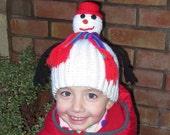 "Crochet pattern PDF ""Snowman"" hat, toy, decoration for kids, crochet beanie for boys and girls, snowman toy for children crochet tutorial"