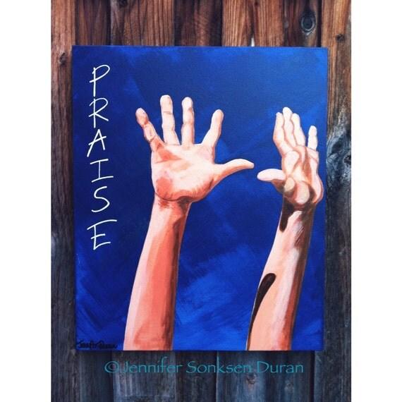Original Realism Fine Art Acrylic Painting by Jennifer Sonksen Duran, Inspirational Art, Christian Art, Religious Art, Wall Art, Modern Art