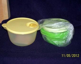Tupperware crystal Wave set, new, set of 3