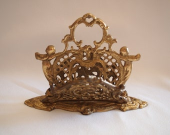 1960s Victorian Style Letter Holder