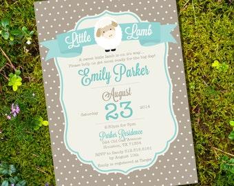 sheep baby shower | etsy, Baby shower invitations