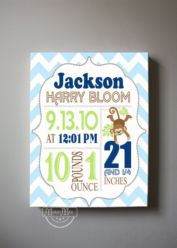 Baby Gift Announcement : Baby gift birth announcement canvas print