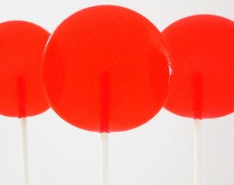 Cherry Limeade Gourmet Lollipops - Pick Your Size - Party Favors - Wedding Favors - Lollipop Favors - Luxe Lollies