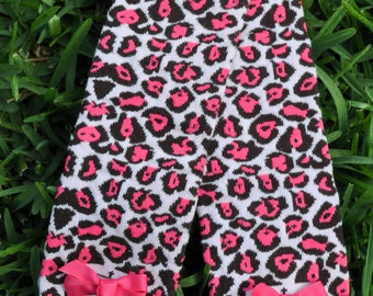 Pink Animal Print Leg Warmers- customize available