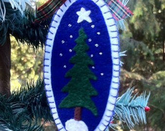 Tree Ornament and Snowman Ornament - Woolfelt Winter Ornament Collection E-Pattern