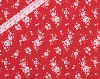 "Tilda Mini Rose Red Fabric / ""Christmas Play Mini"" Quilt Collection - Fat Quarter / 50 cm x 55 cm"