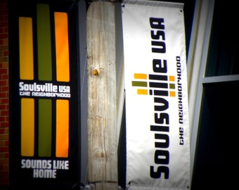 Soulsville USA Banners at Stax Records,  Soul Music Museum, Fine Art Photography, Color Photography, Memphis Music