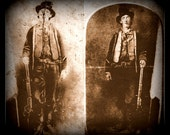 Fridge Magnet vintage image of Billy the Kid wild west western Gun fighter portrait