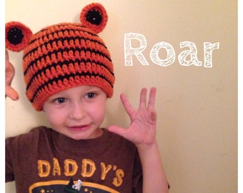 Hand Crocheted Tiger Hats-Made to Order