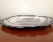 SALE-Vintage 1800's James W. Tufts Silver Cake Serving Plate