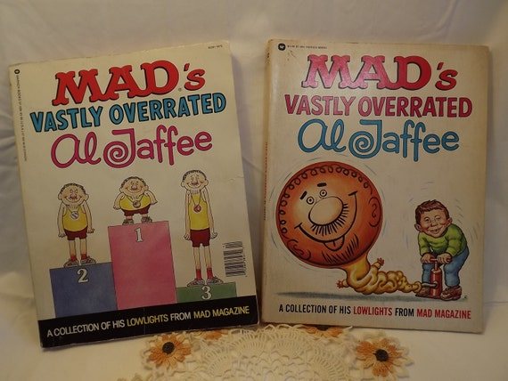 Mad Magazines, Mad's Vastly Overrated Al Jaffee, Humor, Reading ...: https://www.etsy.com/listing/182352897/mad-magazines-mads-vastly...