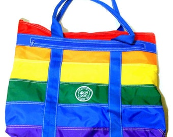 Rainbow Tote Bag 1984 Olympics Levi Strauss @LootByLouise