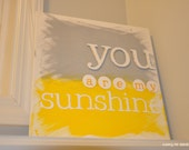 mini you are my sunshine customized canvas wall art