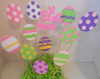Egg Hunt Cake Topper