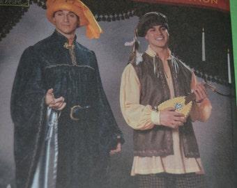 Simplcity 5925 Mens Renaissance Costume Sewing Pattern - UNCUT - Xs S M L XL