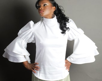 Triple Bell Sleeve Blouse