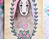 No Face Spirited Away Postcard