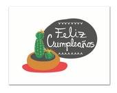 Feliz Cumpleaños - Birthday Card