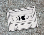 Song Request Card Set of 25, Song Request, Wedding Stationary, Cassette Tape Song Request, Kraft Wedding, Rustic Wedding Invitation