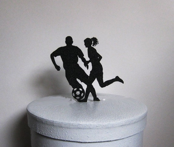 soccer player wedding cake toppers wedding cake topper soccer football soccer by plasticsmith 20273